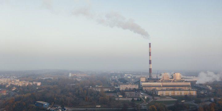 Koldioxidhalter i luften